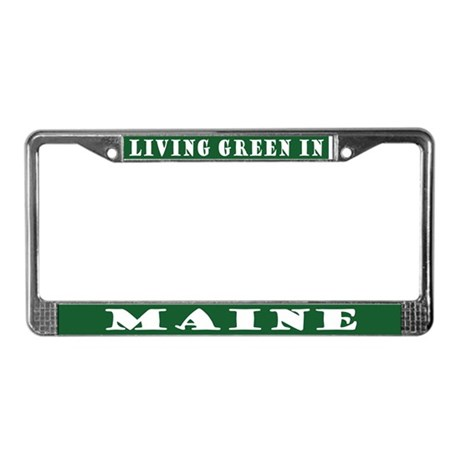 Eco Green Maine License Plate Frame