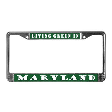 Eco Green Maryland License Plate Frame