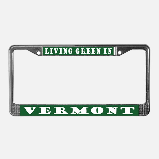 Eco Green Vermont License Plate Frame