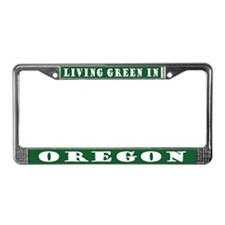 Eco Green Oregon License Plate Frame