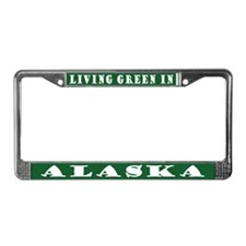 Green Alaska License Plate Frame