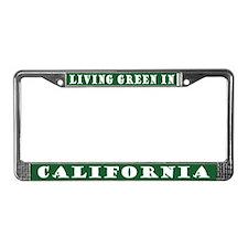Green California License Plate Frame