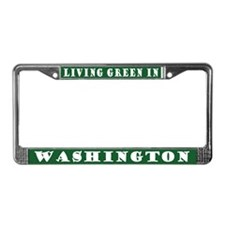 Green Washington License Plate Frame