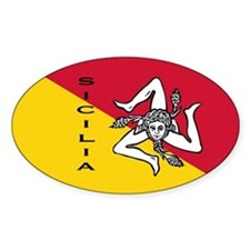 Sicilian pride Oval Decal