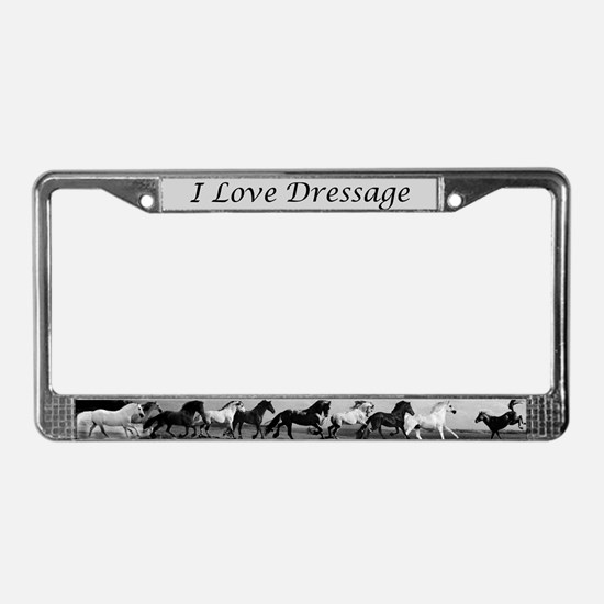 Equestrian eventing License Plate Frame