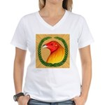 Wreath Gamecock Women's V-Neck T-Shirt