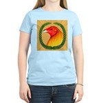 Wreath Gamecock Women's Light T-Shirt
