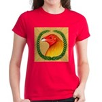 Wreath Gamecock Women's Dark T-Shirt