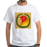Wreath Gamecock White T-Shirt