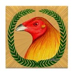 Wreath Gamecock Tile Coaster