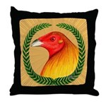 Wreath Gamecock Throw Pillow