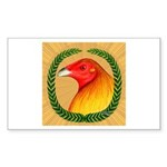 Wreath Gamecock Sticker (Rectangle 10 pk)