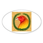 Wreath Gamecock Sticker (Oval 10 pk)