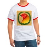 Wreath Gamecock Ringer T