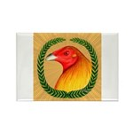 Wreath Gamecock Rectangle Magnet (100 pack)