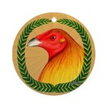 Wreath Gamecock Ornament (Round)