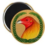 Wreath Gamecock Magnet