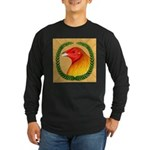 Wreath Gamecock Long Sleeve Dark T-Shirt