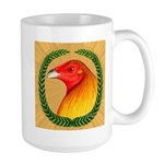 Wreath Gamecock Large Mug