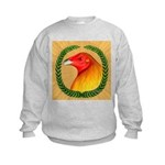 Wreath Gamecock Kids Sweatshirt