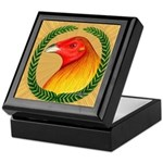 Wreath Gamecock Keepsake Box