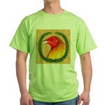 Wreath Gamecock Green T-Shirt