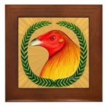 Wreath Gamecock Framed Tile