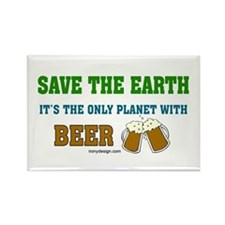 Save The Beer Rectangle Magnet