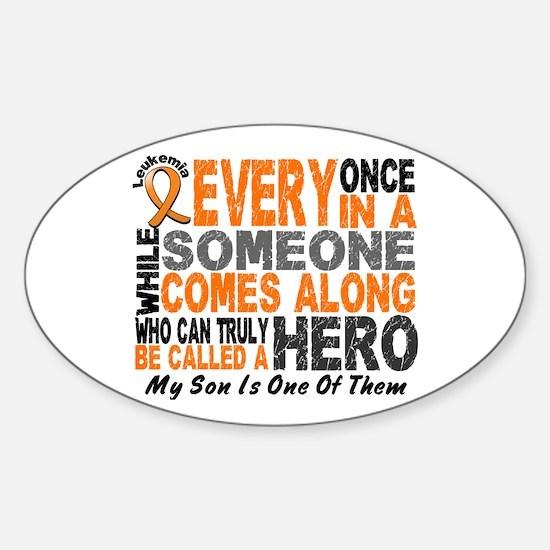HERO Comes Along 1 Son LEUKEMIA Oval Decal