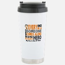 HERO Comes Along 1 Son LEUKEMIA Stainless Steel Tr