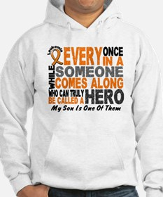 HERO Comes Along 1 Son LEUKEMIA Hoodie Sweatshirt
