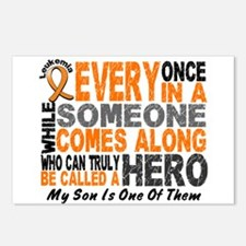 HERO Comes Along 1 Son LEUKEMIA Postcards (Package