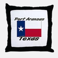 Port Aransas Texas Throw Pillow