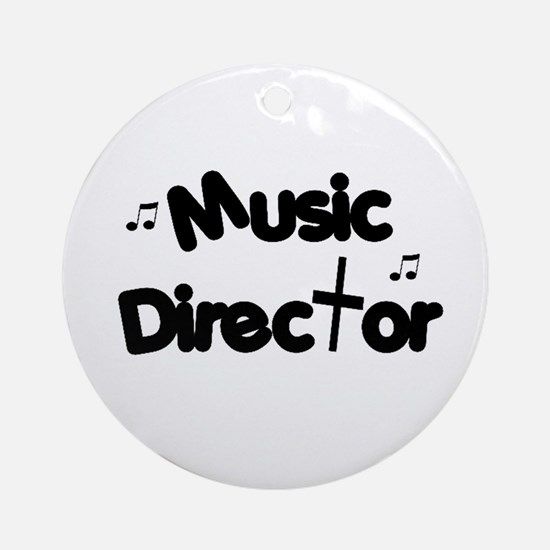 Music Director Ornament (Round)