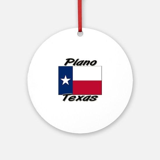 Plano Texas Ornament (Round)