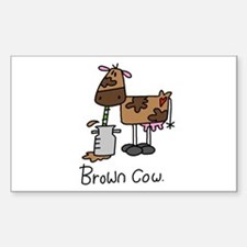 Brown Cow Rectangle Decal