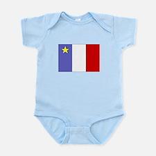 Acadian Flag Infant Bodysuit