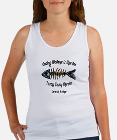 Eating Walleye is Murder Women's Tank Top