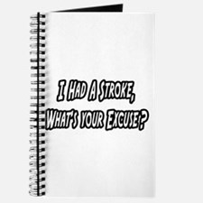 """""""Stroke..What's Your Excuse?"""" Journal"""