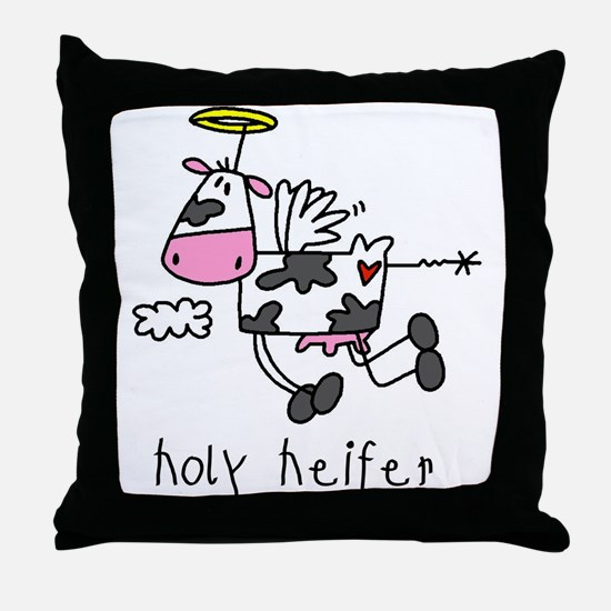 Holy Heifer Throw Pillow