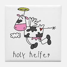 Holy Heifer Tile Coaster