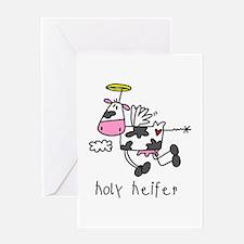 Holy Heifer Greeting Card