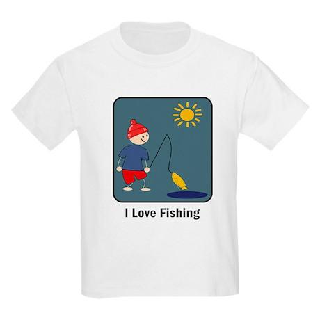 I Love Fishing Kids T-Shirt