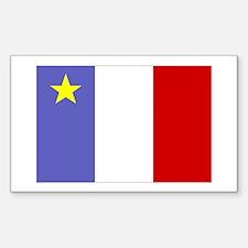 Acadian Flag Rectangle Decal
