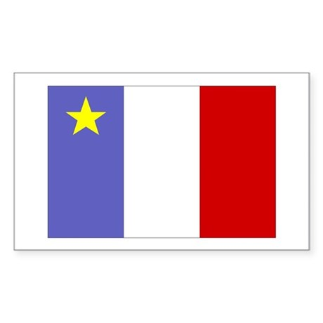 Acadian Flag Rectangle Sticker