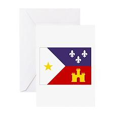 Cajun Flag Greeting Card