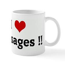 I Love Sausages !! Mug