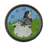 Opal English Trumpeter Large Wall Clock
