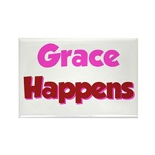 Grace Happens Rectangle Magnet
