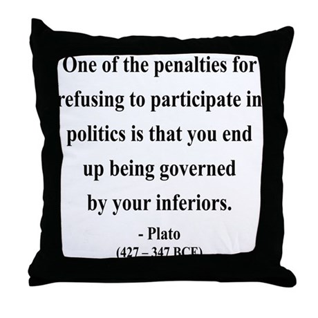 Plato 5 Throw Pillow